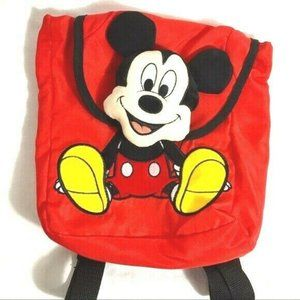 Disney Jr Mickey Mouse Bag Backpack Plush Head